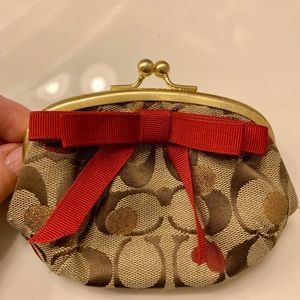 Coach (Rare Pattern) coin purse.
